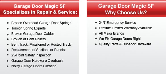 Garage Door Repair San Jose Offers